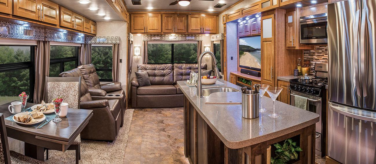 ambition fifth wheel living room
