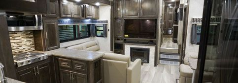 luxury toy hauler fifth wheel interior brazilian