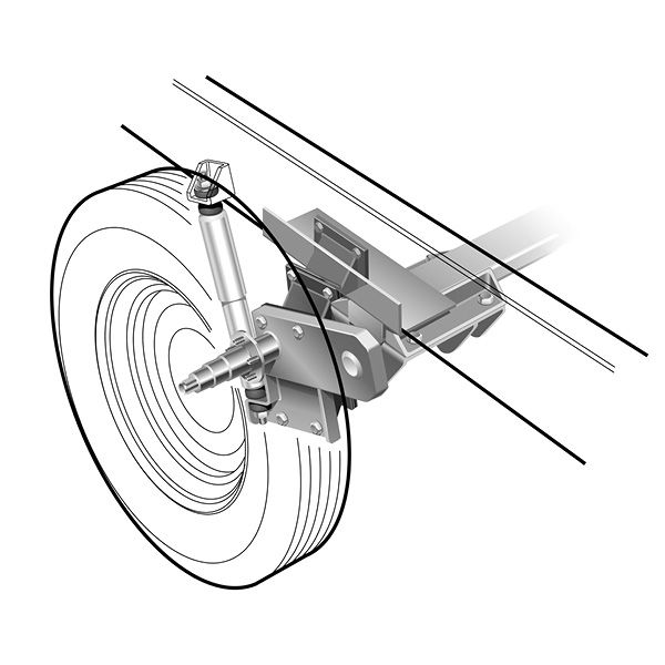 fifth wheel independent suspension