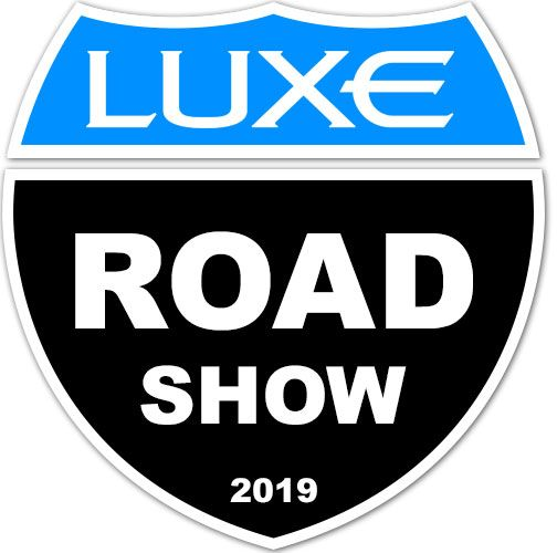 luxury fifth wheel Road Show sign