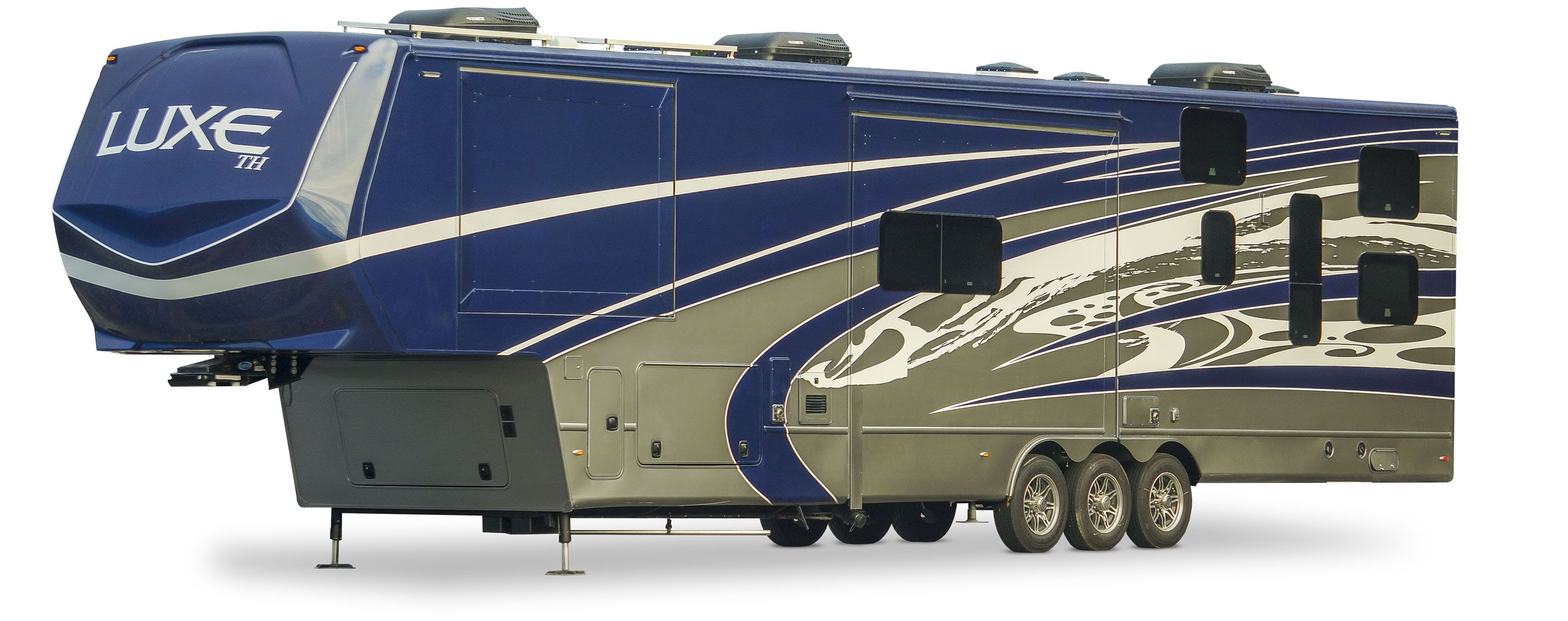 Luxury toy hauler exterior paint