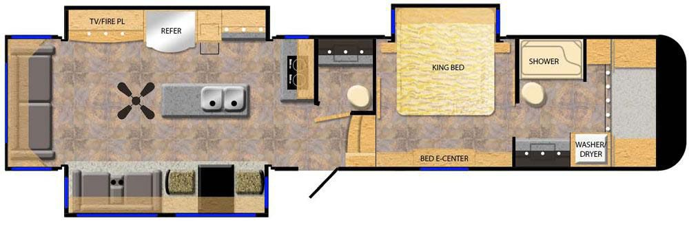 luxury 5th wheel floorplans