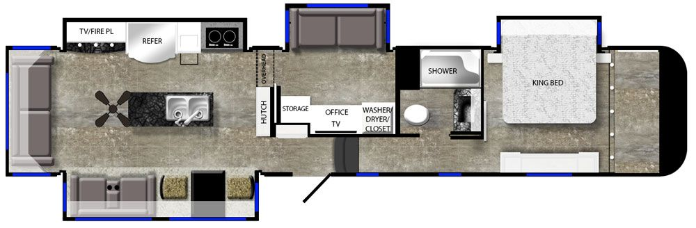 luxury fifth wheel floorplan