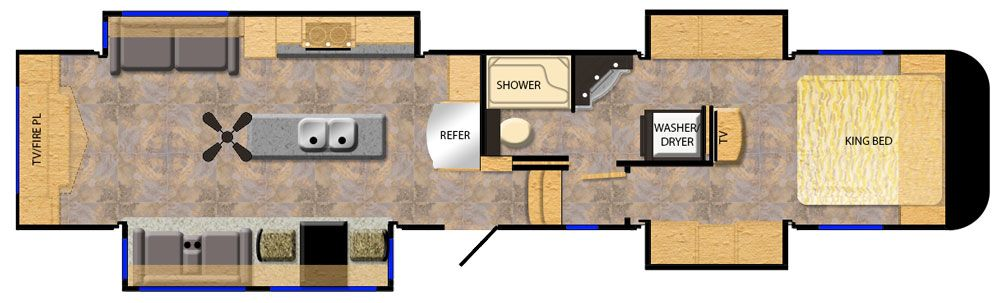 luxury fifth wheel floorplans