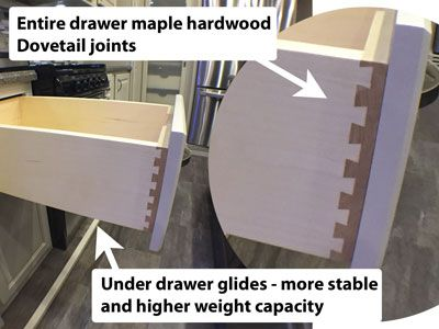 luxury fifth wheel dove tail drawers