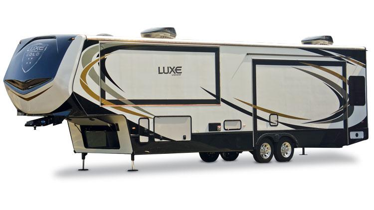 luxe gold luxury full time fifth wheel exterior