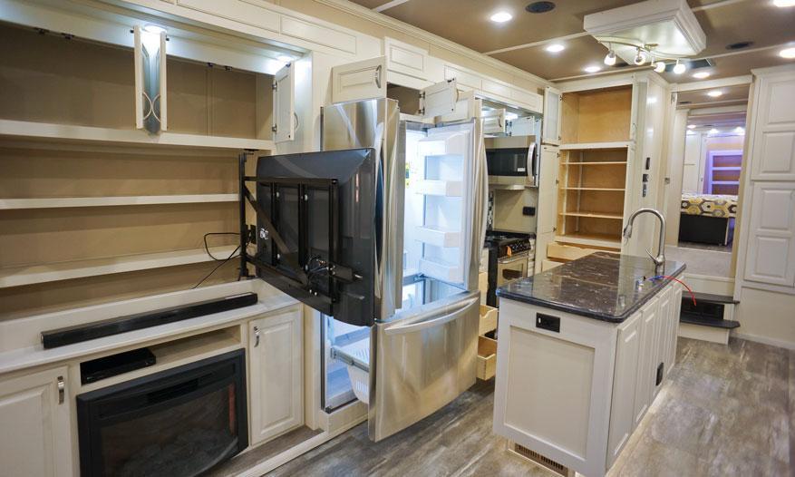 luxe elite luxury fifth wheel kitchen storage