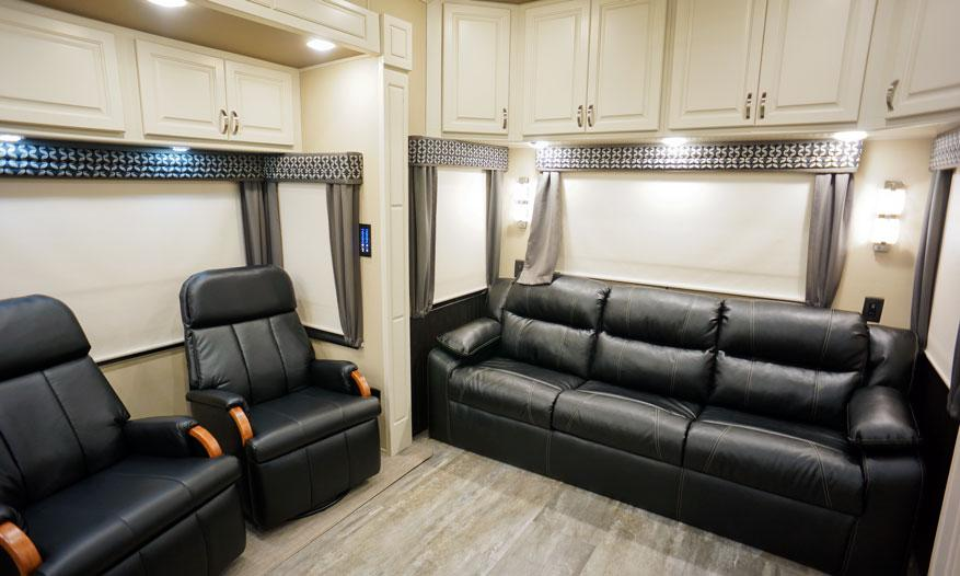 luxe elite luxury fifth wheel couch