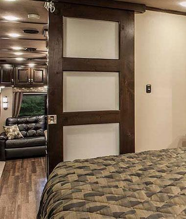 luxury fifth wheel interior bedroom