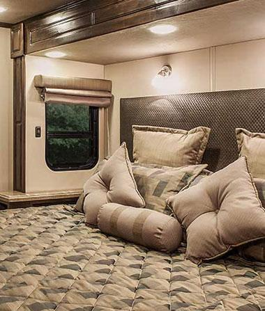 luxury fifth wheel interior master bedroom