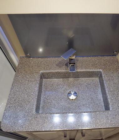 luxe luxury fifth wheel bathroom sink