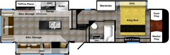 38GLS luxe gold luxury fifth wheel floor plan