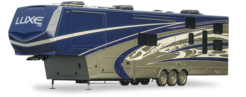 luxe luxury toy hauler fifth wheel exterior 500px