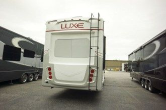 Luxe Elite 42MD luxury fifth wheel rear