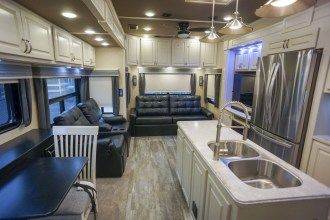 Luxe Elite 42MD luxury fifth wheel living area