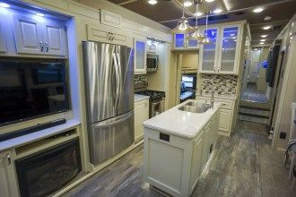 Luxe Elite 42MD luxury fifth wheel kitchen