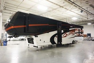 luxury toy hauler 5th wheel exterior