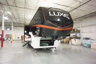 luxury toy hauler 5th wheel front cap
