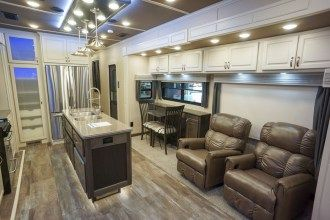luxury fifth wheel dining room