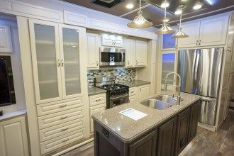 luxury fifth wheel kitchen