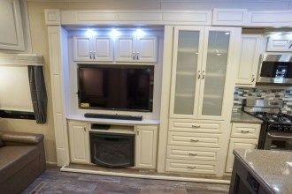luxury fifth wheel entertainment wall