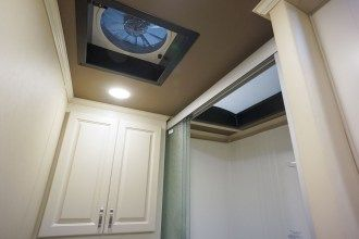 luxury fifth wheel bathroom fan