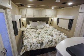 luxury fifth wheel bedroom
