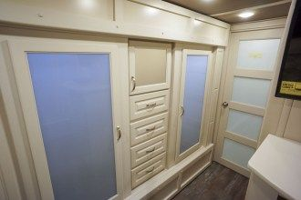 luxury fifth wheel bedroom wardrobe