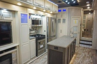 luxury 5th wheel kitchen