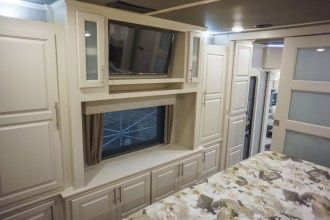 luxury 5th wheel bedroom entertainment center