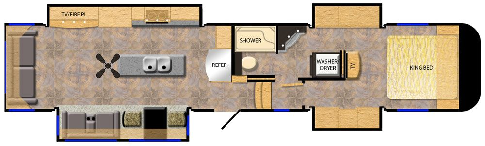 2021 Luxe Elite 42RL Floor Plan