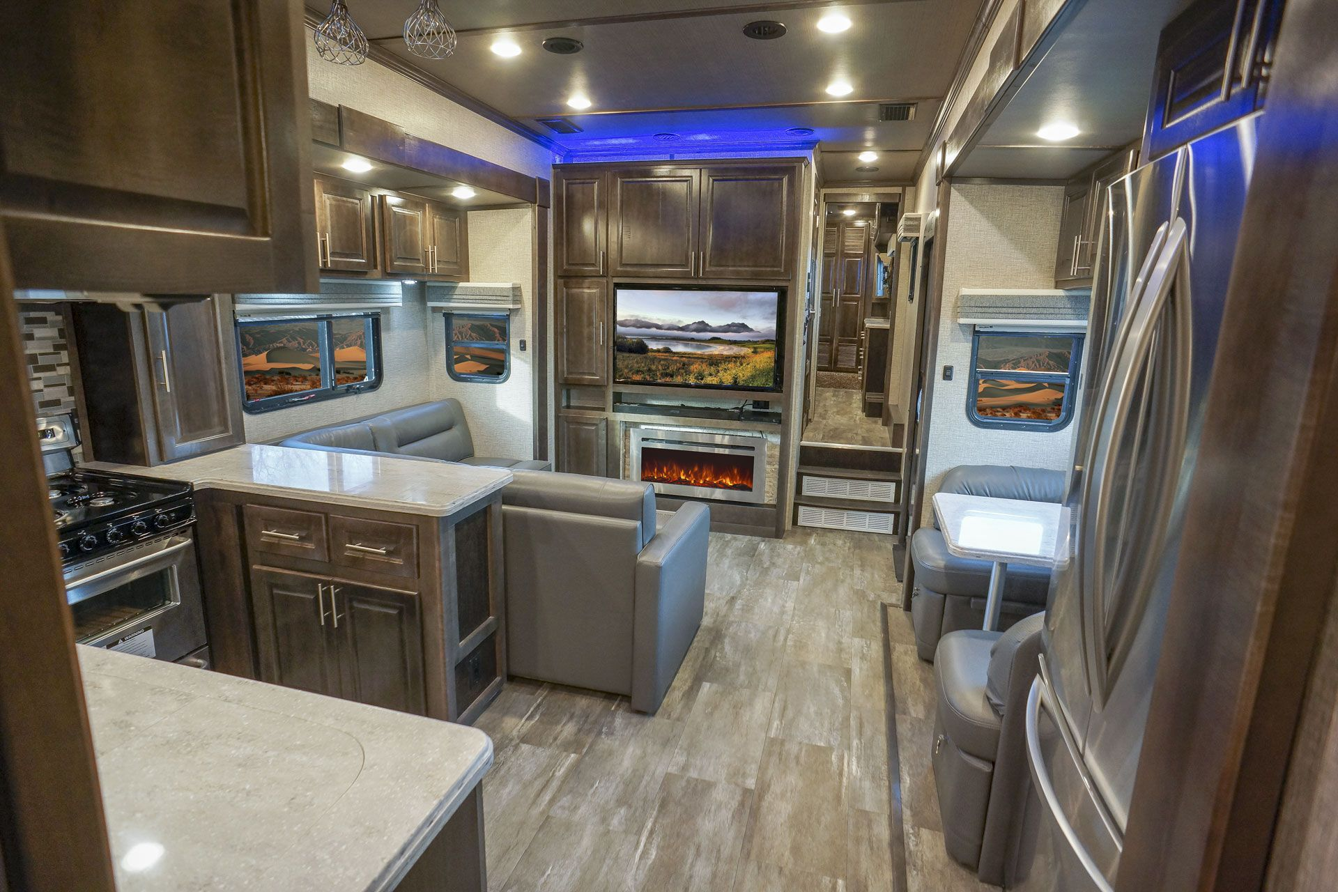 Luxury fifth wheel beachfront